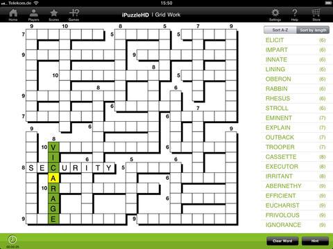 iPuzzleHD Crossword iPad Screenshot 3