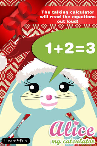 Alice Talking Calculator Christmas Special Educational applications games for kids