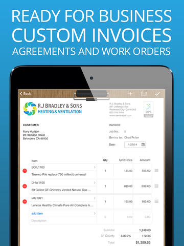 ServicePal for HVAC estimating and invoicing