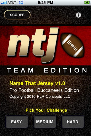 Name That Jersey Pro Football Buccaneers Edition