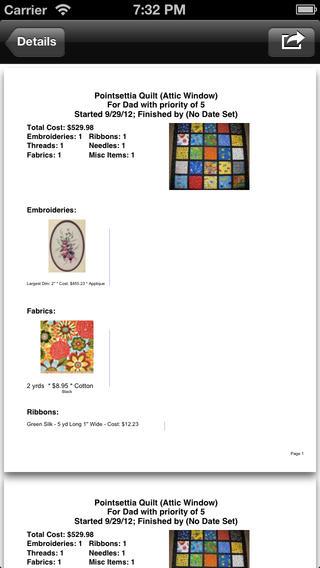 Project Quilt: Organizer iPhone Screenshot 5