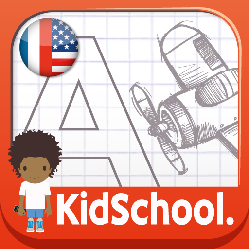 KidSchool : Write and draw, my first alphabet in English and French HD