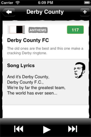 Derby County '+' FanChants Ringtones For Football Songs