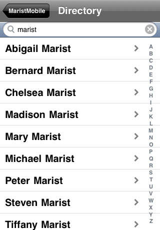 MaristMobile iPhone Screenshot 5