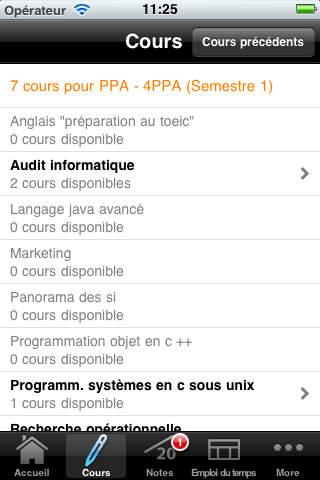 Réseau GES iPhone Screenshot 3