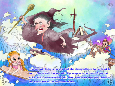 Little Mermaid - bedtime fairy tale Interactive Book by iBigToy