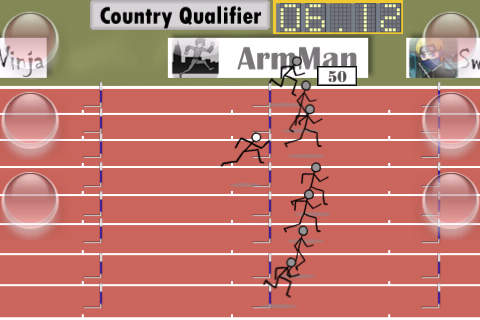 Cartoon Sprint Lite2: Added Hurdles