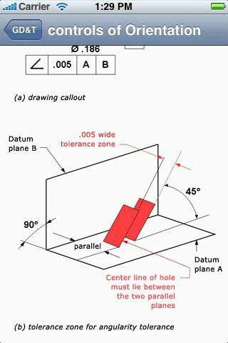 Design Data - GD&T Geometric Dimensioning and Tolerancing iPhone Screenshot 4