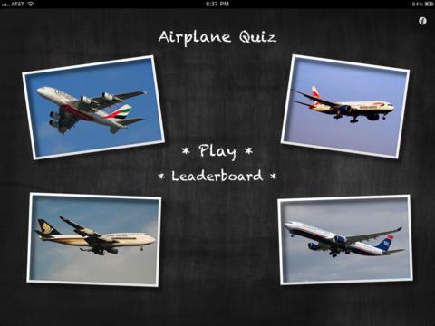 Airplane Quiz for iPadscreeshot 1