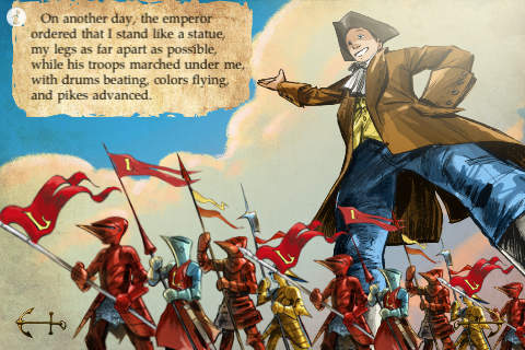 Gulliver's Travels – Part I – Voyage to Lilliput – a classic novel by Jonathan Swift for iPhone and iPod Touch