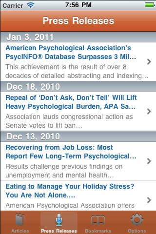 APA Journals iPhone Screenshot 4