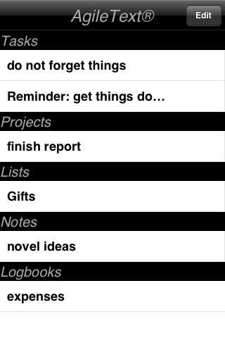 AgileText® Noter Lite iPhone Screenshot 2