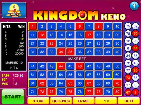 free video keno games