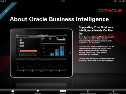 Oracle Business Intelligence Mobile Quiz App