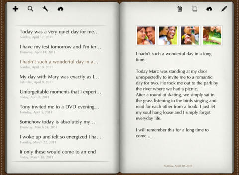 Diary for iPad iPad Screenshot 1