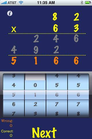 Portable Math Multiplication