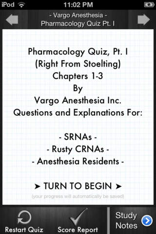 Pharmacology Quiz Pt. I