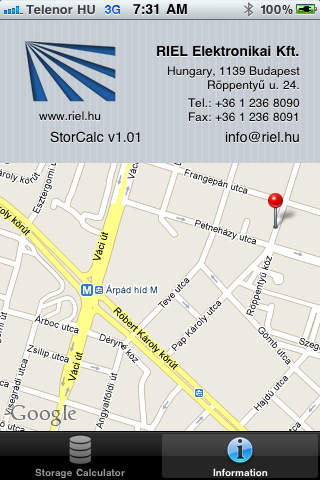 StorCalc iPhone Screenshot 2