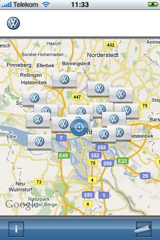 Volkswagen Dealer Search iPhone Screenshot 4