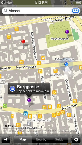 Smart Maps - Vienna iPhone Screenshot 2