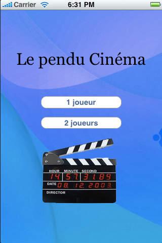 HangMan Cine iPhone Screenshot 1