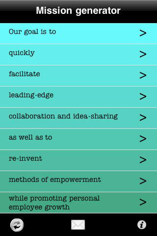 Mission Statement Generator iPhone Screenshot 2