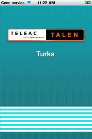 TeleacTalen Turks iPhone Screenshot 1