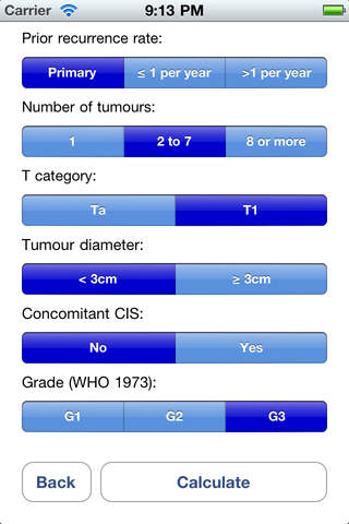 Bladder Cancer Prognosis Calculator