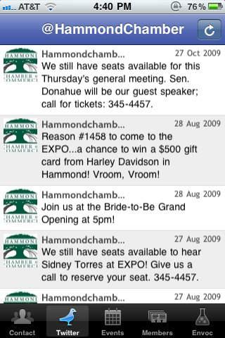 Hammond Chamber App