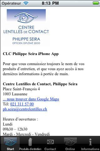 CLC Seira iPhone Screenshot 1