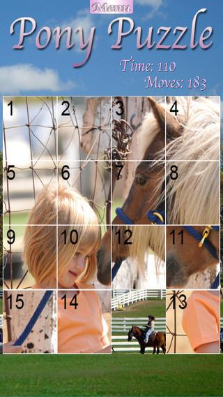 Pony Puzzle iPhone Screenshot 1