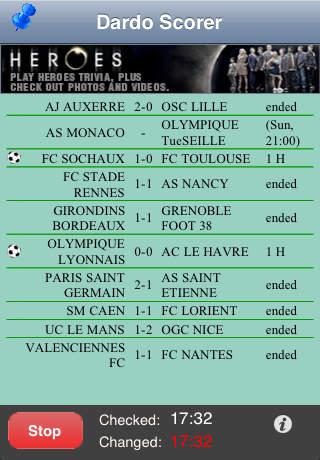 Dardo Soccer Scores Lite