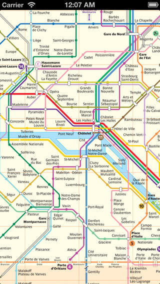 Auto-Updating Paris Metro Map
