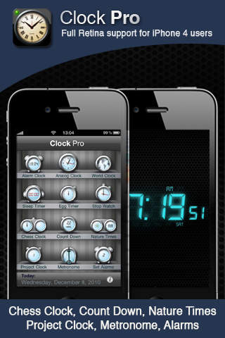 Clock Pro Free - Alarms, Clocks & Alarm Clock iPhone Screenshot 2