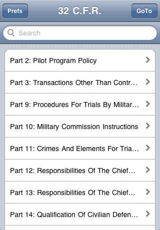 C.F.R. Title 32: National Defense