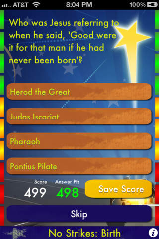 Bible Trivia screenshot