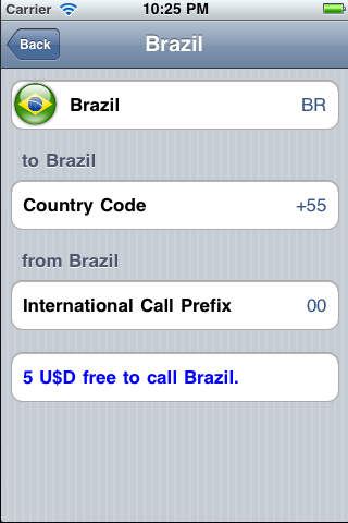 Country Codes - How to Call iPhone Screenshot 2