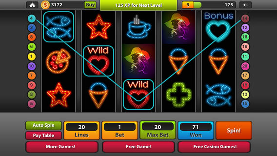 Neon Slots : Casino 777 Jackpot Poker Game Free