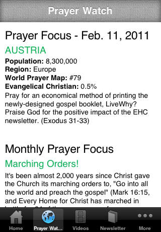 Every Home for Christ iPhone Screenshot 2
