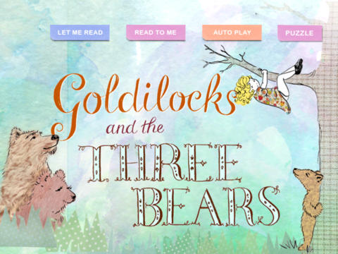 Goldilocks and the Three Bears - Children's Classic Stories by KwiqApps iPad Screenshot 1
