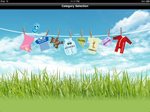 Baby Video Flashcards HD by SpongeWords iPad Screenshot 1