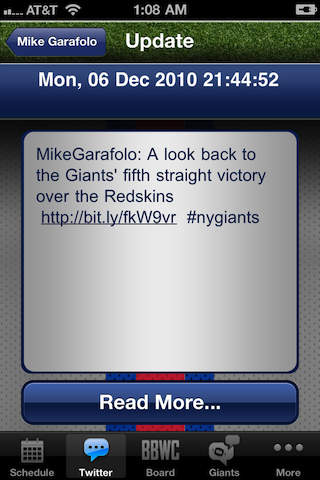 Big Blue! New York Giants! iPhone Screenshot 4