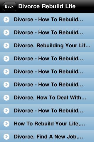 Divorce Rebuild Life iPhone Screenshot 2