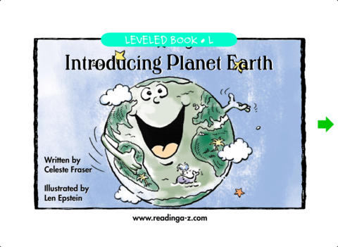 Introducing Planet Earth – LAZ Reader [Level L–second grade] iPad Screenshot 1