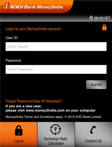 ICICI Bank-Money2India for iPad