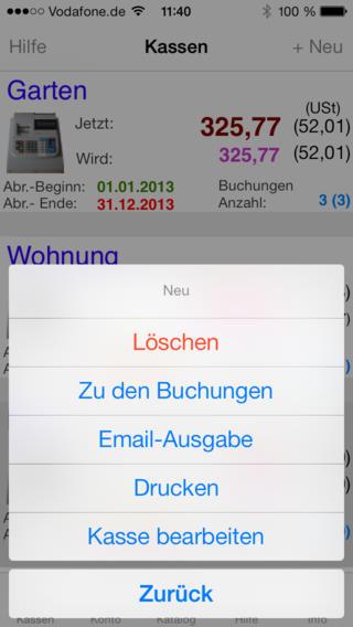 Kasse iPhone Screenshot 5