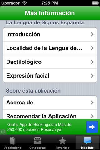Lengua de Signos para iPhone - LITE iPhone Screenshot 4