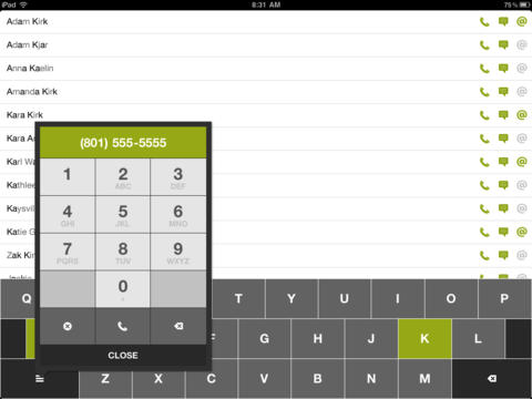 Dialvetica Contacts iPad Screenshot 1