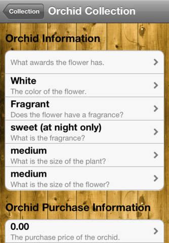 Orchid Notebook iPhone Screenshot 2