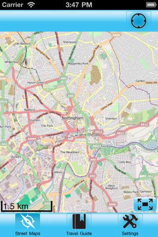 Nottingham Street Map Offline